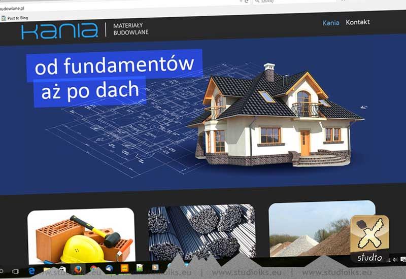 Kania Materiały Budowlane Strona www