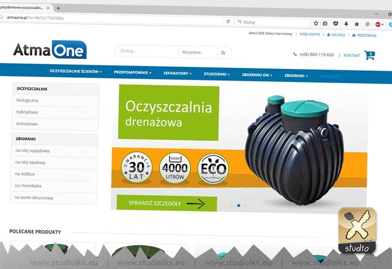 atma one sklep internetowy - przydomowa oczyszczalnia ścieków