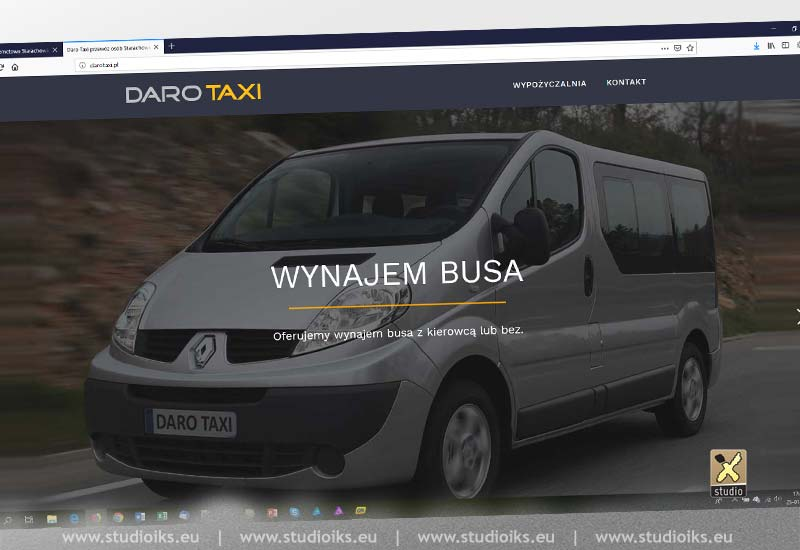 Strona internetowa taxi